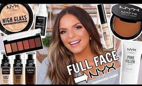 FULL FACE USING ONLY NYX COSMETICS! | Casey Holmes
