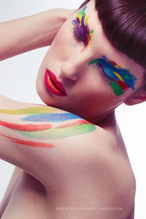 I like painting faces Model: Sophie Truscott Photographer: Model Management Canada - Mike Mahoney