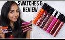 NYX LIQUID SUEDE CREAM LIPSTICK | SWATCHES & REVIEW | 7 Shades | Stacey Castanha