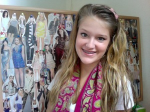 In front of my fashion inspiration board :)