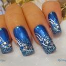 Winter wonderland blue nails