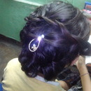 Messy hair bun :)