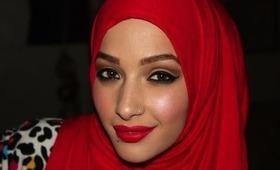 Neutral Eye Red Lip :)
