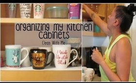 Organizing My Kitchen Cabinets | Clean With Me | Quick Kitchen Clean Up