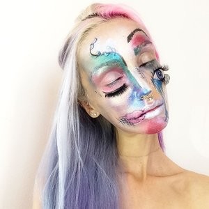 #abstract #creativemakeup #facepaint #bodyart #abstractmakeup #eyes #eyeswideshut #alien #makeup #makeupartist #art