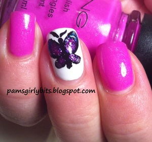 butterfly nail art 049