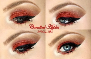 Candied Apples. Fun Glittery Holiday look!  I used My Beauty Addiction Mineral shadows & Glitter for this look!