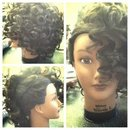 Curly side-style on my mannequin! X