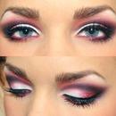 pink smokey eye! please follow:)