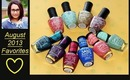 August 2013 Favorites: Nail Polishes and Swatches