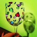 cheetah print glass