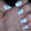 News print nails