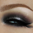 Metallic grey silver smokey eye look / Fall make-up tutorial / AW2013 trends inspired