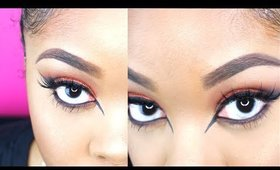 Edgy Copper Cat Winged Liner Look | Samirah Gilli