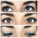 Teal gel eyeliner 👌💙