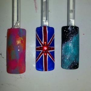 tye dye, british flag, galaxy