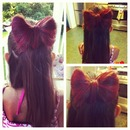 Hypercolor hair bow!