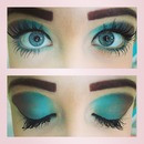 blue and brown eyeshadow