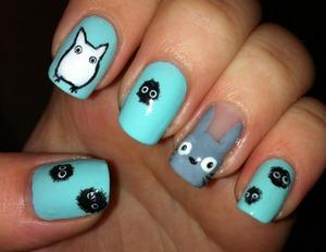 Totoro Nails :D
