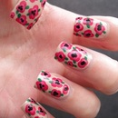 Flower Print Nails