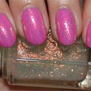 Essie Shine of the Times (layered over OPI If You Moust You Moust)