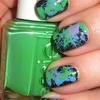 Jackson Pollock Inspired Nails