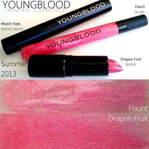 Due to launch June 1st! Collection includes lipstick Dragon Fruit, lip gel Flaunt and eyelash restorative serum. READ MORE: http://www.beautybykrystal.com/2013/05/review-on-youngblood-summer-2013.html