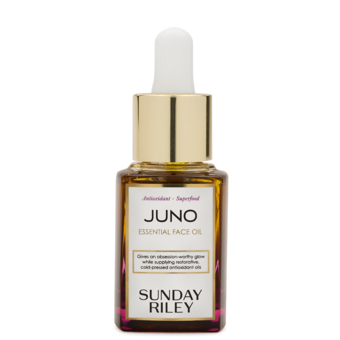 Sunday Riley Juno Antioxidant + Superfood Face Oil 15 ml product smear.