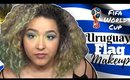 Uruguay Flag Inspired Makeup Tutorial -Fifa World Cup- (NoBlandMakeup)