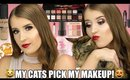 MY CATS PICK MY MAKEUP | FULL FACE OF PRODUCTS!