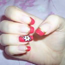 Summery Flower & French Tips