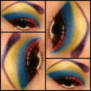 Colorful cut crease using all Dollipop cosmetics eyeshadow.https://www.facebook.com/pages/Beauty-by-Misty/284753311587703