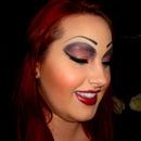 Simple drag queen look! great model.