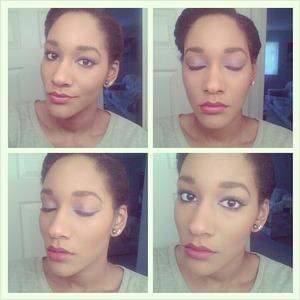 Bold eyes, bold lip.
