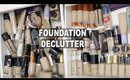 DECLUTTERING MY FOUNDATIONS! | Chloe Luckin