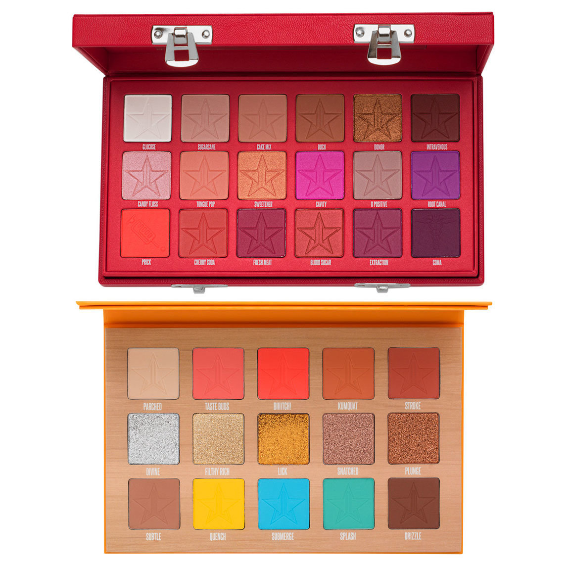 Jeffree Star Cosmetics Thirsty & Blood Sugar Palette Bundle product smear.