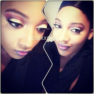 Makeup artist Bratz inspired look... reds, pinks, & blues.