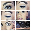 blue liner on black liner