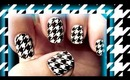 Hot for Houndstooth Nails using Sally Hansen Nail Effects