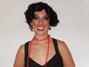 My cousin Amanda as a sexy vampire :)