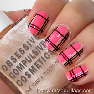 HOW-TO: http://www.maryammaquillage.com/2013/06/summer-neon-plaid-nail-art-how-to.html