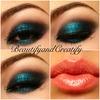 Smokey eye with a touch of glitter