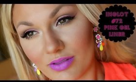 Double Liner Tutorial: Inglot #72 - Pink Gel Liner