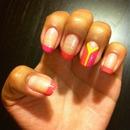 Pink Orange Nails