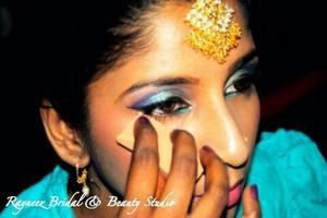 Bridal makeup for a client