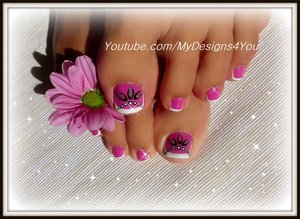 https://www.youtube.com/watch?v=bwAErSJwqsU Toenail Art Design | Pink and Silver Beads Pedicure