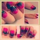 green/ pink nails =)