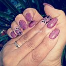 Glitter Nails/Butterfly Nails/Nail Art/Nails/Fucsia Nails/Pink Nails
