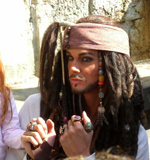 this is make up for Jack Sparrow in Disneyland Paris.