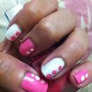 pink n white dots